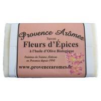 Savon Fleurs d' épices à l'huile d'olive Bio de Provence Arômes
