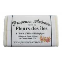 Savon fleurs des îles à l'huile d'olive Bio de Provence Arômes