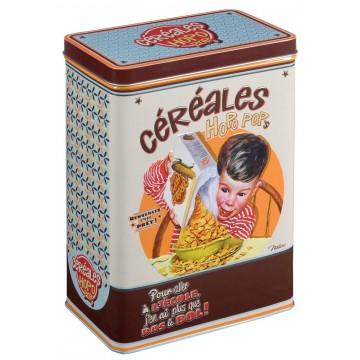 Boîte à céréales HOPO POP'S Natives déco rétro vintage