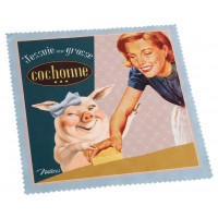 Chiffonnette J'ESSUIE UNE GROSSE COCHONNE Natives déco rétro vintage humoristique