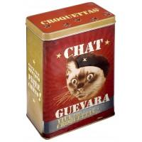 Boîte à croquettes CHAT GUEVARA Natives déco rétro vintage