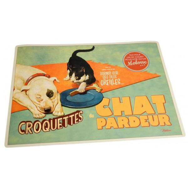 Tapis Pour Gamelle Chat Pardeur Natives D Co R Tro Vintage Humoristique Provence Ar Mes