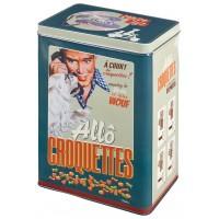 Boîte à croquettes ALLÔ CROQUETTES Natives déco rétro vintage humoristique