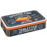 Boîte métal pour tablettes de chocolat COUP DE FOOD Natives déco rétro vintage