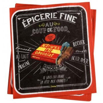 Serviettes en papier COUP DE FOOD Natives déco rétro vintage