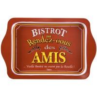Petit Plateau métal BISTROT DES AMIS Natives déco rétro vintage