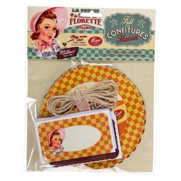 Kit Confiture CHAMP DE FLORETTE Natives déco rétro vintage