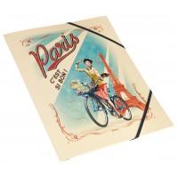 Chemise cartonnée PARIS PAULETTE Natives déco rétro vintage