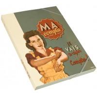 Chemise cartonnée MA COMPTA Natives déco rétro vintage