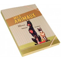Chemise cartonnée MES ANIMAUX Natives déco rétro vintage