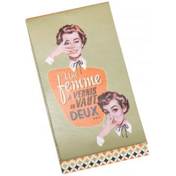 Kit limes à ongles FEMME À VERNIS Natives déco rétro vintage