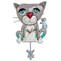 Horloge Chat et souris à balancier déco vintage Allen designs