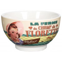 Bol CHAMP DE FLORETTE Natives déco rétro vintage