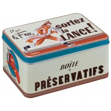 Boîte à préservatifs POMPIER Natives déco rétro vintage