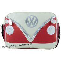 Sac vw combi Volkswagen rouge et blanc à bandoulière Brisa rétro vintage collection