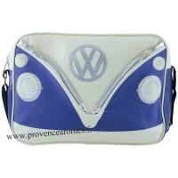 Sac vw combi Volkswagen bleu et blanc à bandoulière Brisa rétro vintage collection