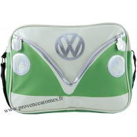 Sac vw combi Volkswagen vert et blanc à bandoulière Brisa rétro vintage collection