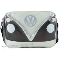 Sac vw combi Volkswagen marron et noir à bandoulière Brisa rétro vintage collection