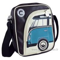 Sacoche rembourrée pour tablette déco vw combi Volkswagen bleu Brisa rétro vintage collection