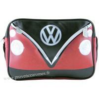 Sac vw combi Volkswagen rouge et noir à bandoulière Brisa rétro vintage collection
