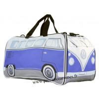 Sac de sport ou voyage vw combi Volkswagen bleu Brisa rétro vintage collection