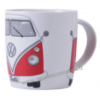 Mug combi Volkswagen rouge en céramique Brisa rétro vintage collection