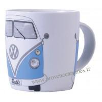 Mug combi Volkswagen bleu en céramique Brisa rétro vintage collection