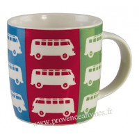 Mug combi Volkswagen multicolore en céramique Brisa rétro vintage collection