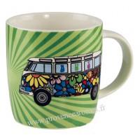 Mug combi Volkswagen Fleuri en céramique Brisa rétro vintage collection