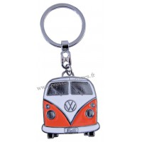 Porte-clés vw combi Volkswagen orange Brisa rétro vintage collection