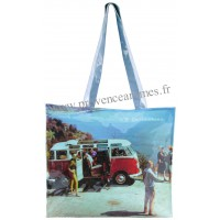 Sac Cabas vw combi Volkswagen Plage Brisa rétro vintage collection