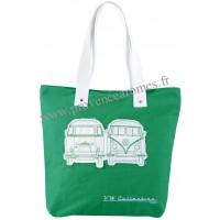 Sac Cabas en toile vw combi Volkswagen vert Brisa rétro vintage collection