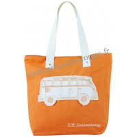 Sac Cabas en toile vw combi Volkswagen orange Brisa rétro vintage collection