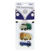 lot de 3 magnets vw combi transporteur Volkswagen rouge Brisa rétro vintage collection