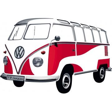 Sticker mural vw combi Volkswagen rouge Brisa rétro vintage collection