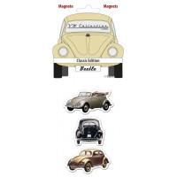 lot de 3 magnets coccinelle classique Volkswagen Brisa rétro vintage collection