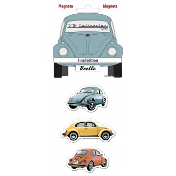 lot de 3 magnets coccinelle édition finale Volkswagen Brisa rétro vintage collection