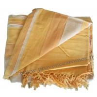 Tenture Kérala plaid couvre-lit Orangé Aurore