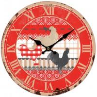 Horloge COQ dentelle déco rétro Charme et Campagne