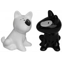 Salière Poivrière Chats chat blanc chat noir