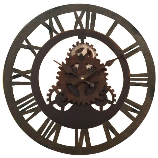 Pendule Murale Maison Du Monde. Horloge En Mtal Noire D Cm. Simple ...