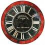 Horloge en verre Café de la Gare Paris déco rétro noire et rouge