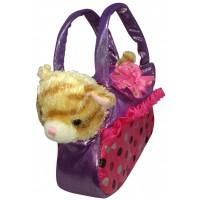 petit rouquin dans sac rose Peluche à pois chat Provence son dqwnRa