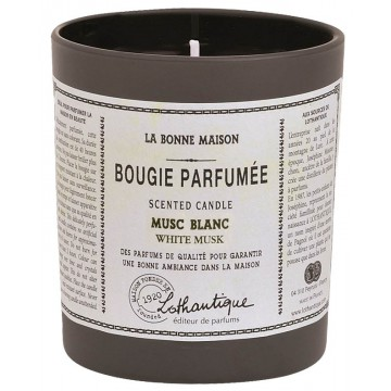 bougie parfum e musc blanc lothantique la bonne maison provence ar mes tendance sud. Black Bedroom Furniture Sets. Home Design Ideas