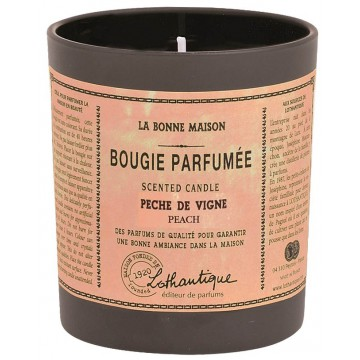 Bougie Parfumée PÊCHE DE VIGNE Lothantique La Bonne Maison