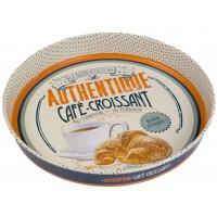 Plateau rond CAFÉ CROISSANT Natives déco rétro vintage