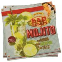 Serviettes en papier MOJITO Natives déco rétro vintage