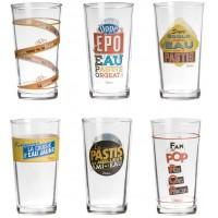 Coffret de 6 verres à PASTIS Natives déco rétro vintage