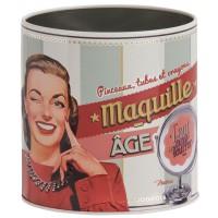 Pot à maquillage MAQUILLE-ÂGE Natives déco rétro vintage humoristique