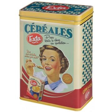 Boîte à céréales EXTA Natives déco rétro vintage